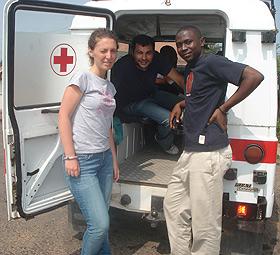85f05ffa9d Francesca Giovannenze con Lorenzo Cataneo in Ghan con un collega ghanese