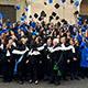Festa di laurea in toga e tocco